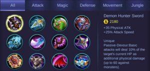 5 Mobile Legends Items