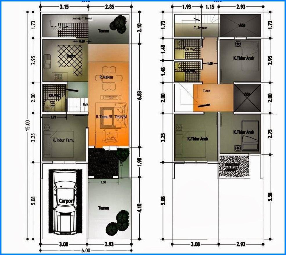Cara Desain Rumah Tingkat Minimalis Tipe 45