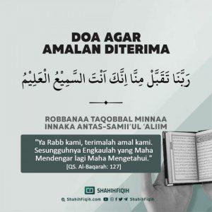 Doa Mohon diterima amalan