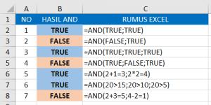 Fungsi Rumus AND Pada Microsoft Excel
